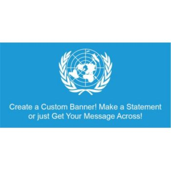 United Nations Flag Custom Banner
