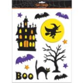 Haunted House Gel Cling Decorations