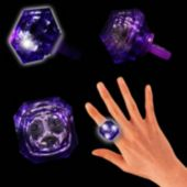 Purple LED and Light-Up Diamond Ring