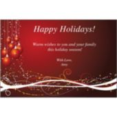 Holiday Ornaments Personalized Invitations