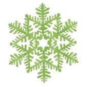 Green Glitter Snowflake