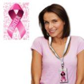 Pink Ribbon Pass With Lanyard