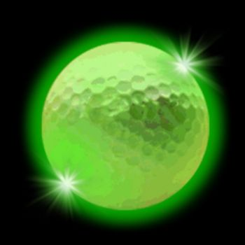 Green LED Golf Ball