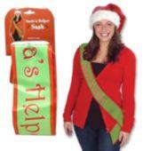 Santa's Helper Sash
