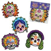 Day Of The Dead Masks-4 Pack