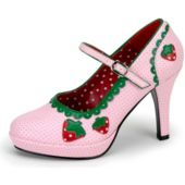 Strawberry High-Heel Adult Shoes - 8