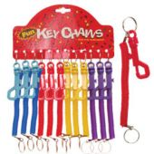 Coil Keychains-12 Pack