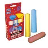 """3 Piece Box Of 4"""" Sidewalk Chalk - 12 Pack"""