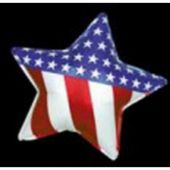 "Patriotic Star Metallic 18"" Balloon"