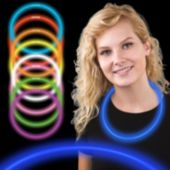 "Blue Glow Necklaces-22""-50 Per Tube"