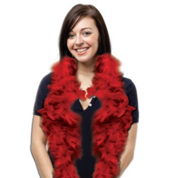 Red Feather Boa - 6 Foot