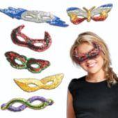 Sequin Masks - 12 Pack