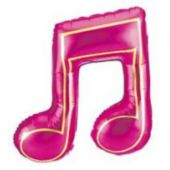 "Double Music Note Metallic 40"" Balloon"