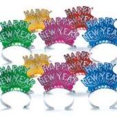 Happy New Year Tiara Assortment - 12 Pack