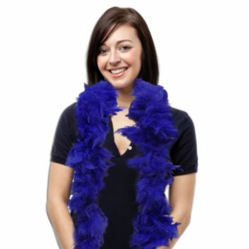 Royal Blue Feather Boa - 6 Foot