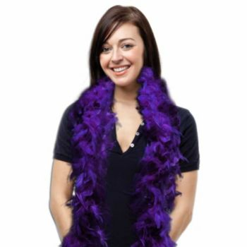 Purple Feather Boa - 6 Foot