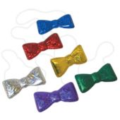 Colorful Metallic Bow Ties - 12 Pack