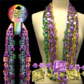 "Cards And Dice Bead Necklaces-48""-12 Pack"
