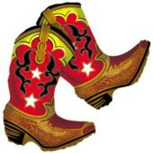 "Dancing Cowboy Boots 36"" Balloon"