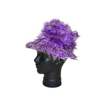 PURPLE SHAG  HAT