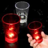 Red LED Dice Shot Glass-2oz