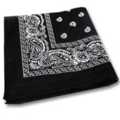 Black Cotton Bandana-12 Pack