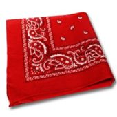 Red Cotton Bandanas -12 Pack