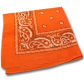 Orange Cotton Bandana-12 Pack