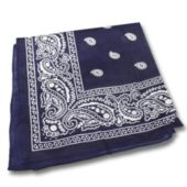 Blue Cotton Bandana-12 Pack