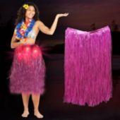 Pink LED and Light-Up Hula Skirt