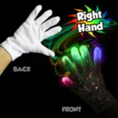Rock Star LED Right Hand Sequin Glove