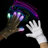 Rock Star LED Left Hand Sequin Glove