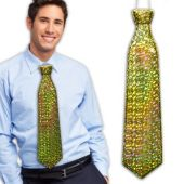 Gold Prismatic Ties -12 Pack
