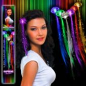 Multi-Color LED and Light-Up Fiber Optic Hair Clip