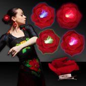 Red Rose LED Hair Clip