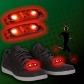 Red LED and Light-Up Shoe Beatz - 1 Pair