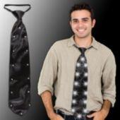 Black LED and Light-Up Necktie