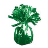 """Green Foil Balloon 2 1/2"""" Weight"""