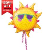 "Prismatic Sun Shaped Metallic 24"" Balloon"