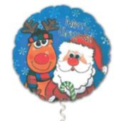 Santa and Rudolph Merry Christmas Balloon