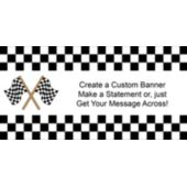 Raceway Checkered Flag Custom Banner
