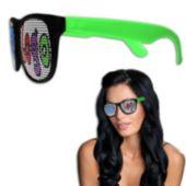 Neon Green Custom Retro Sunglasses-12 Pack
