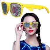 Yellow Novelty Custom Sunglasses-12 Pack