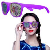 Purple Novelty Custom Sunglasses-12 Pack
