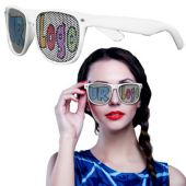 White Wayfarer Custom Sunglasses-12 Pack