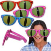 Jumbo Cat Eye Funny Sunglasses-4 Pack