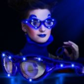 LED Blue Eyes Novelty Sunglasses