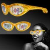 Yellow LED Novelty Custom Sunglasses