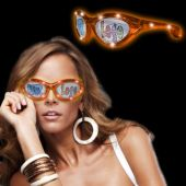 Orange LED Novelty Sunglasses