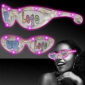 Pink LED Novelty Sunglasses